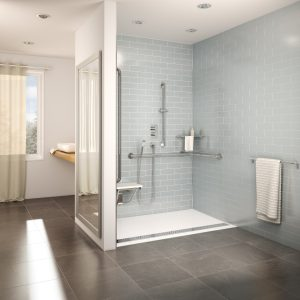 Roll In Showers For Seniors And Handicapped In Barrier